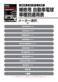 PIAA 補修用自動車電球車種別適用表(4輪&2輪)